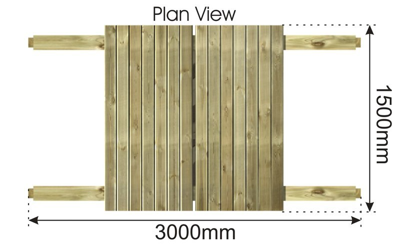 Sand Pit with Sliding Lid plan view