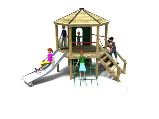 Foxley 7 accessible play tower