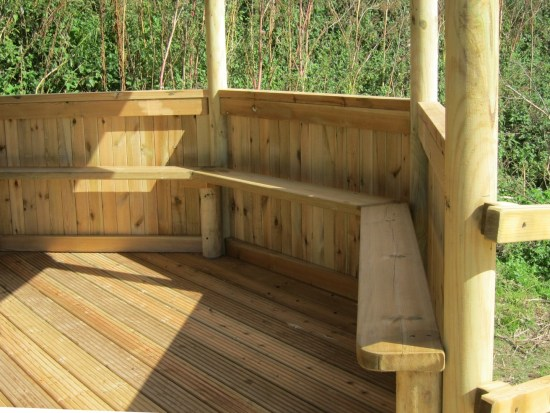 Octagonal outdoor classroom seating