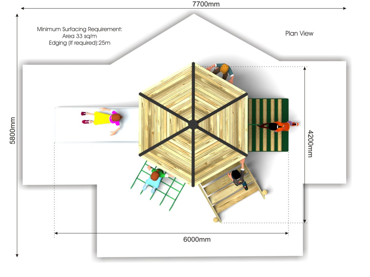 Foxley 7 Inclusive Play Tower plan view