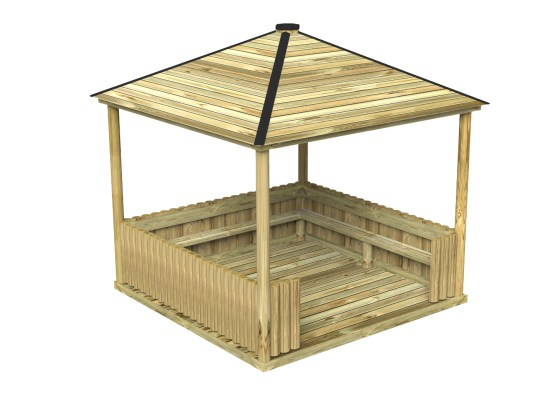 Square Shelter or square outdoor classroom
