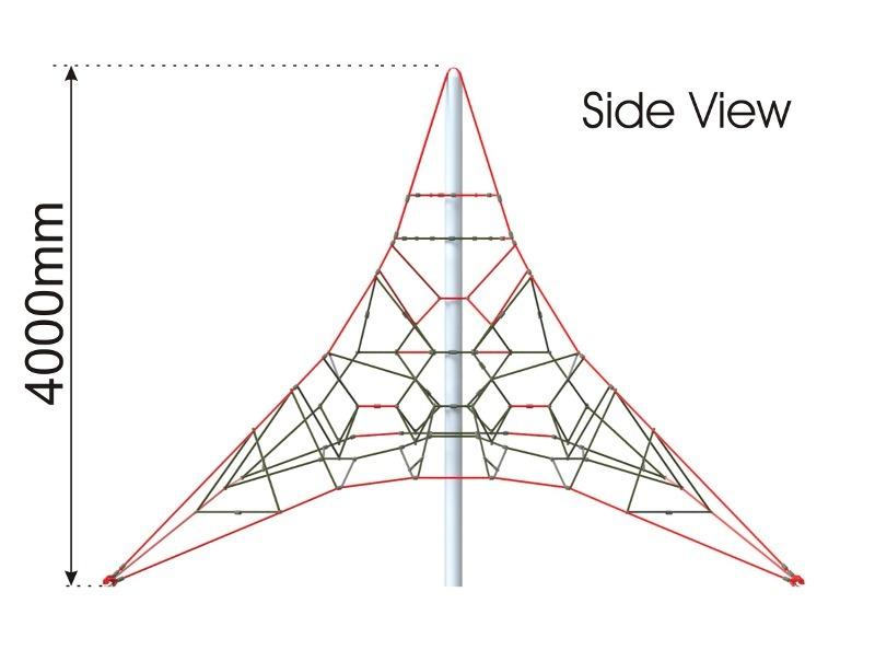 Activity Climbing Net 4m side view