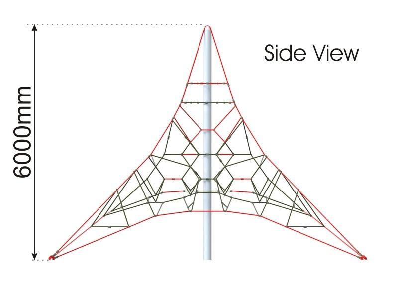 Activity Climbing Net 6m side view