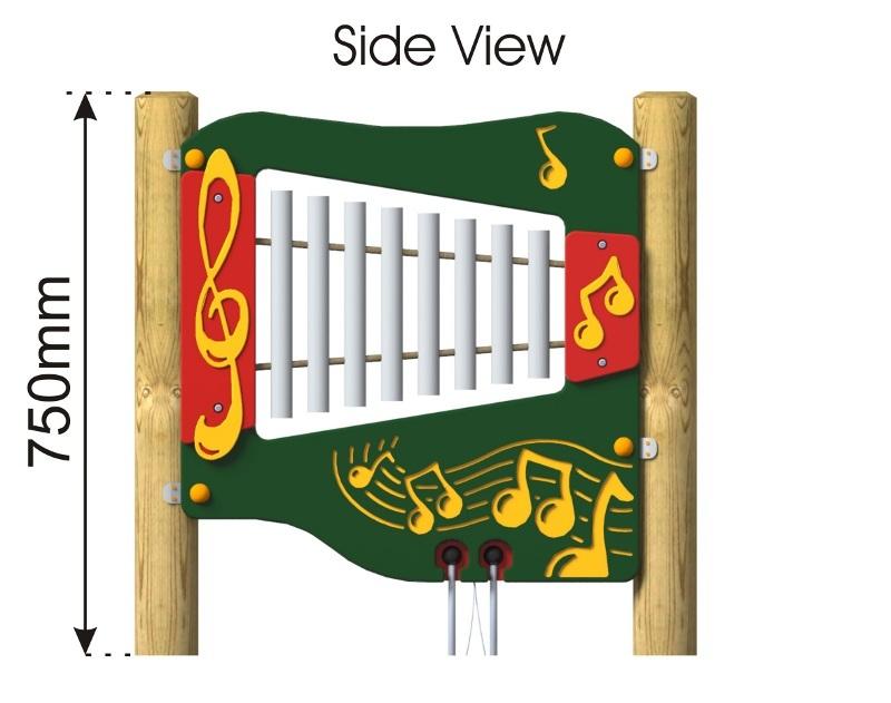 Ally Tube Glockenspiel Panel side view