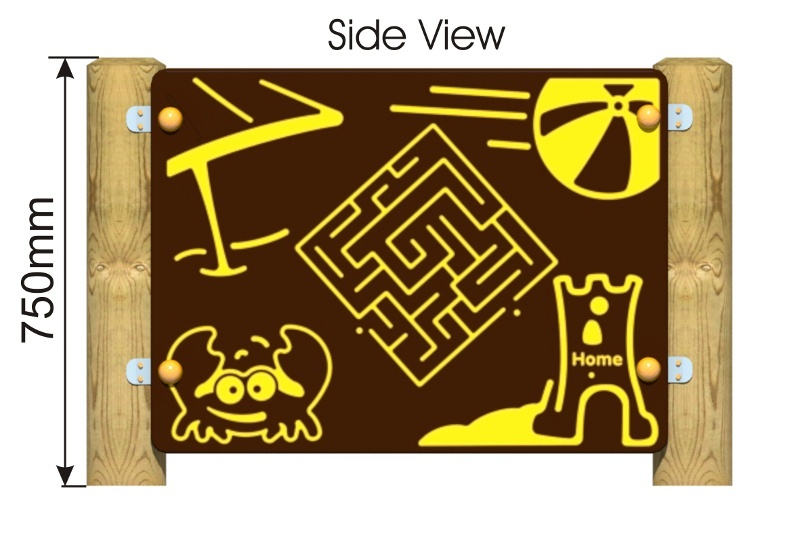 Beach Maze Panel side view