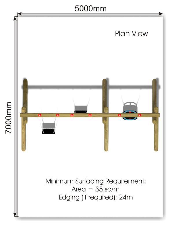Flat & Cradle Swing 3 plan view