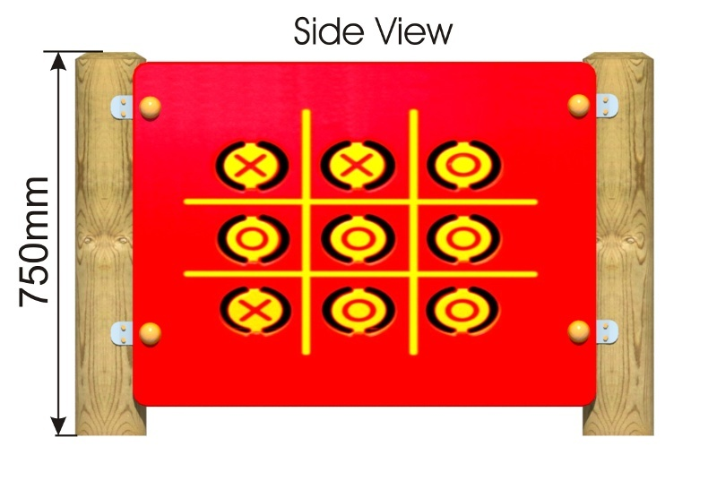 Flip Over Noughts and Crosses Play Panel side view