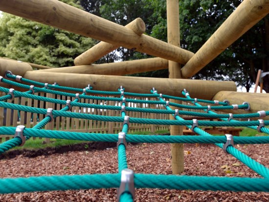 Forest stack climbing frame net detail