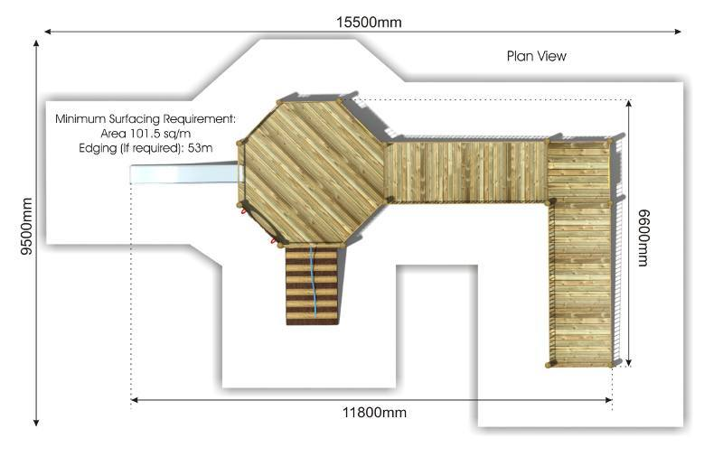 Foxley 2 Inclusive Play Tower plan view