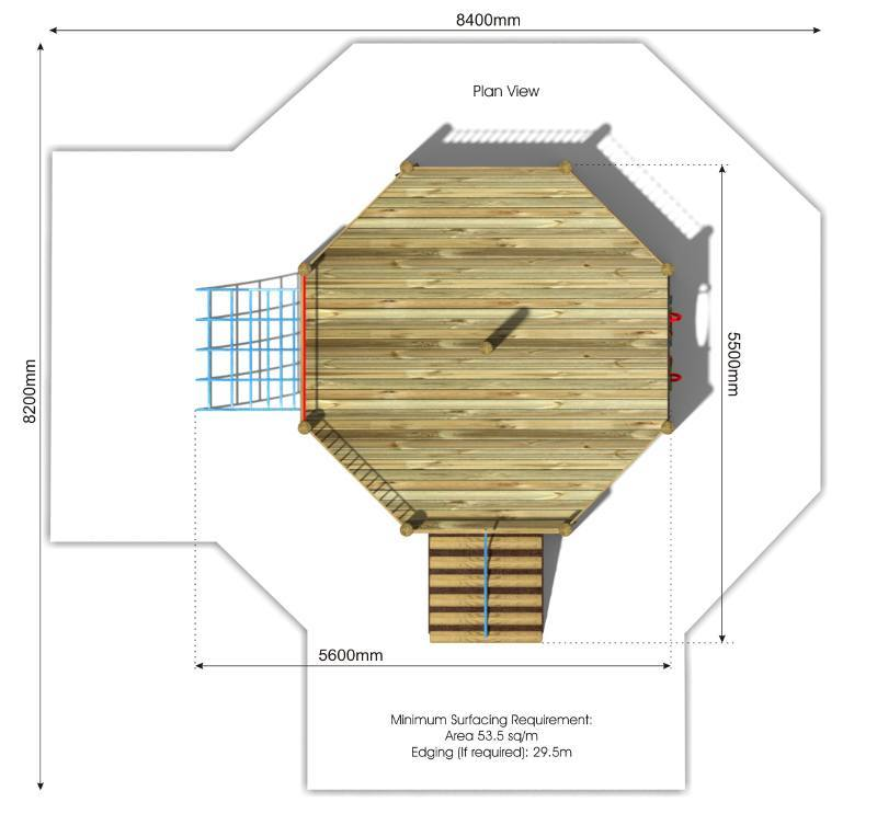 Foxley 5 Inclusive Play Tower plan view