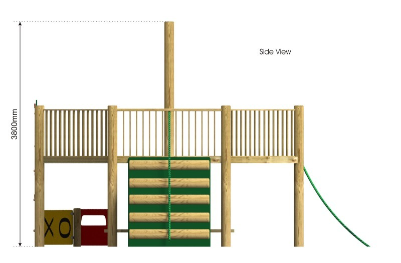 Foxley 5 Inclusive Play Tower side view