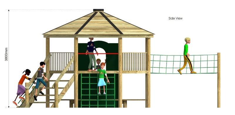 Foxley 6 Inclusive Play Tower side view