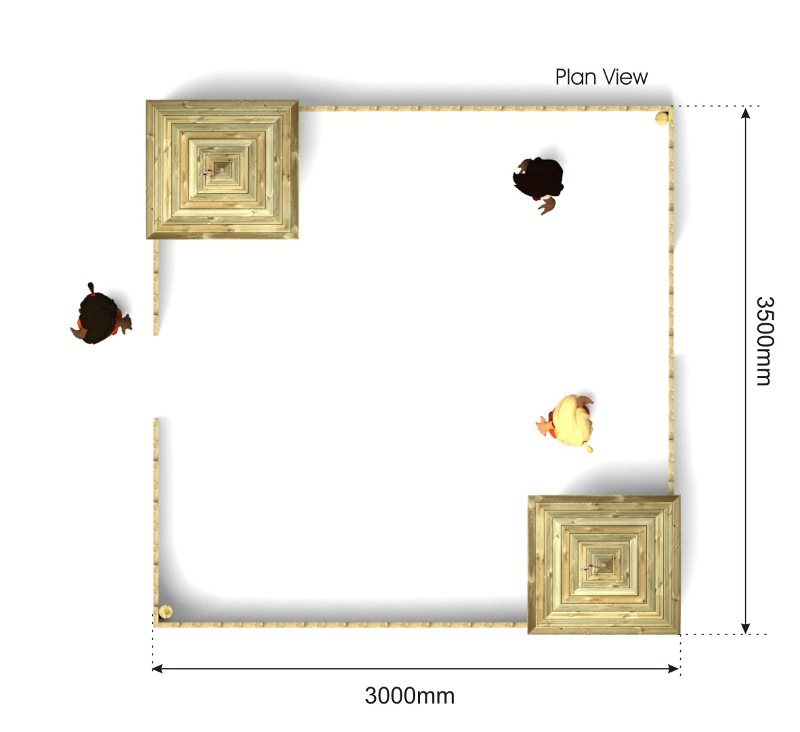 Frontier Fort plan view
