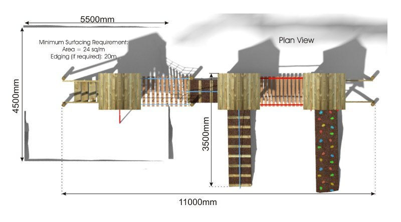 Great Waltham Play Tower plan view