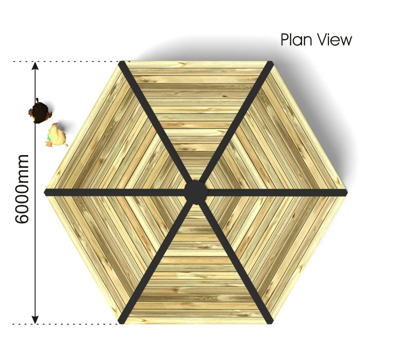 Hexagonal Shelter plan view