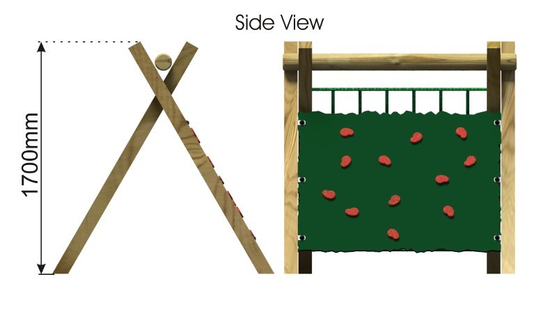Inclined Climbing Wall side view