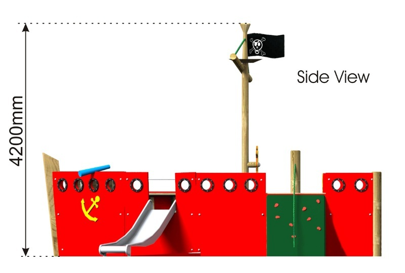 Knollmead Play Ship side view