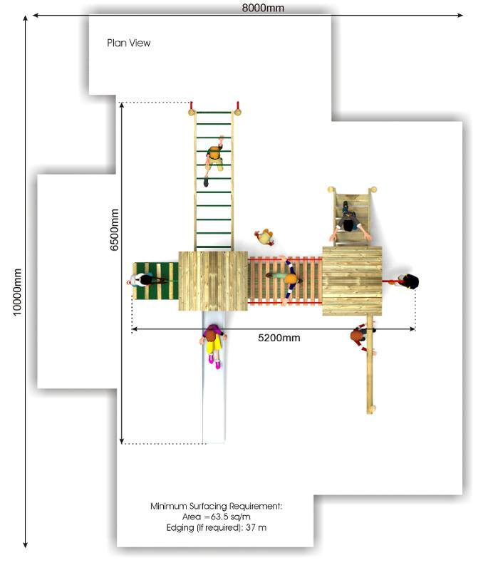 Litcham 13 Play Tower plan view