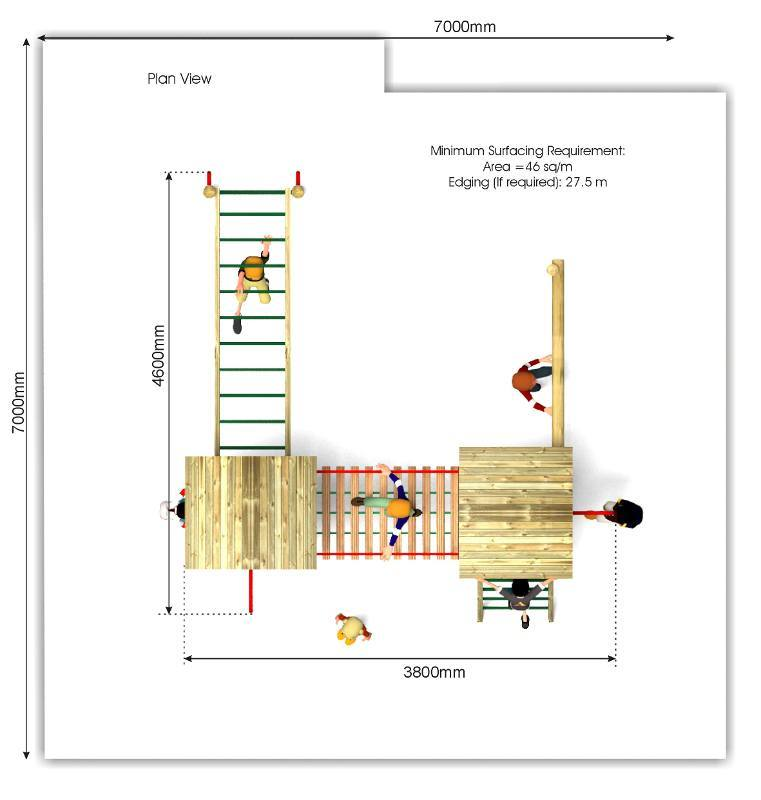 Litcham 16 Play Tower plan view