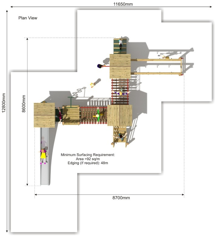 Litcham 20 Play Tower plan view