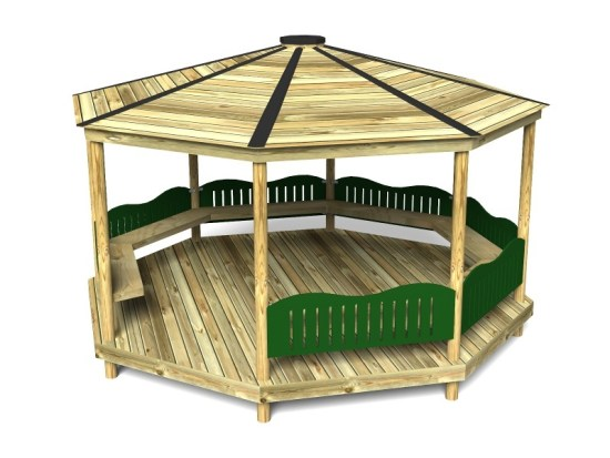 Octagonal Shelter with HDPE Panels