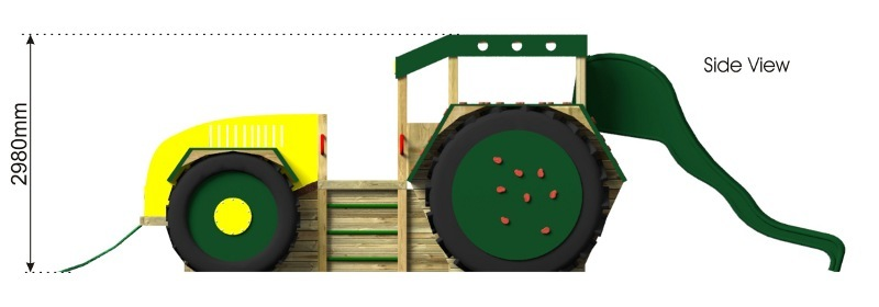 Play Tractor with Slide side view