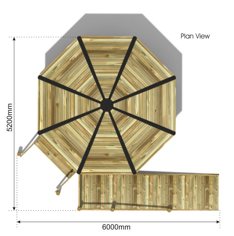 Raised Octagonal Shelter plan view