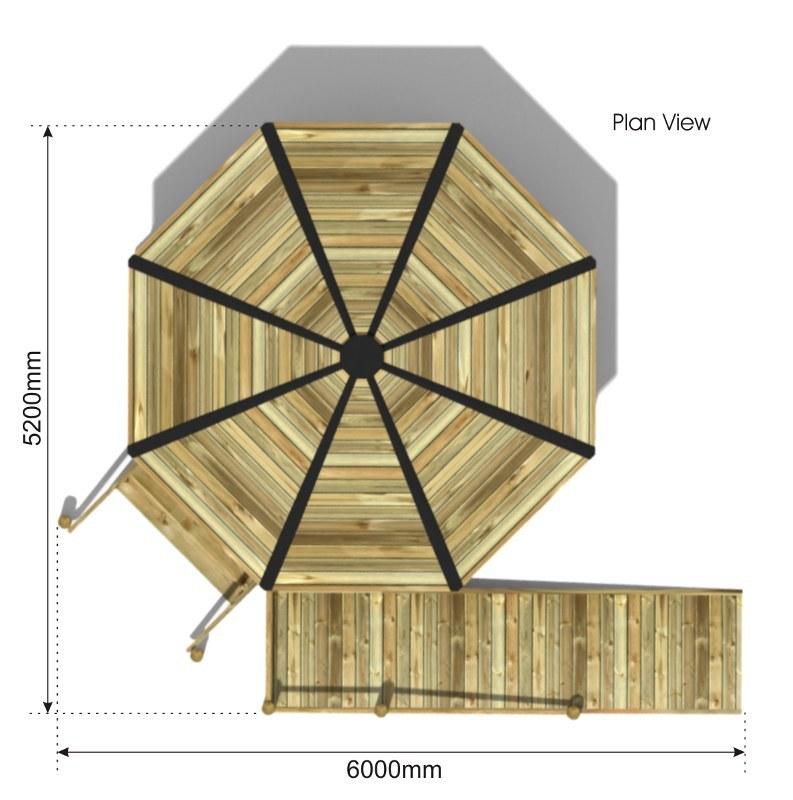 Raised Octagonal Shelter plan view