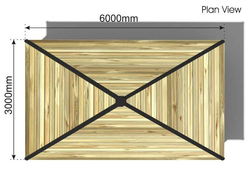 Rectangular Outdoor Classroom plan view