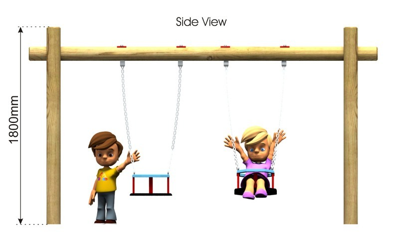 Toddler Swing 4 side view