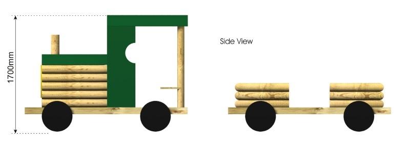 Train side view