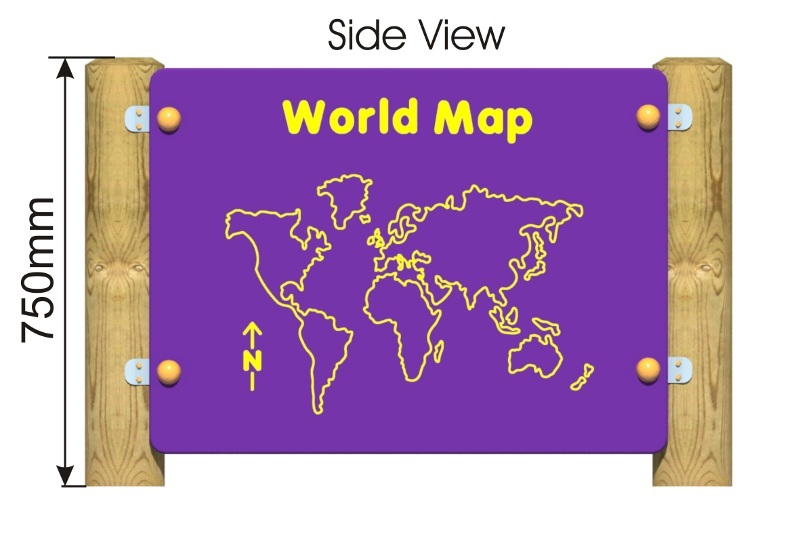 World Map Panel side view