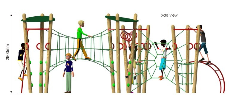 Xplorer 5 Climbing Frame side view