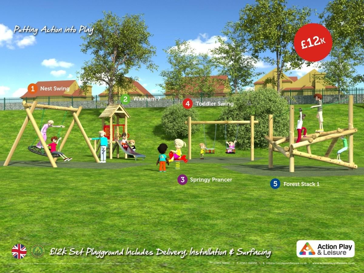 £12,000 ready designed playground