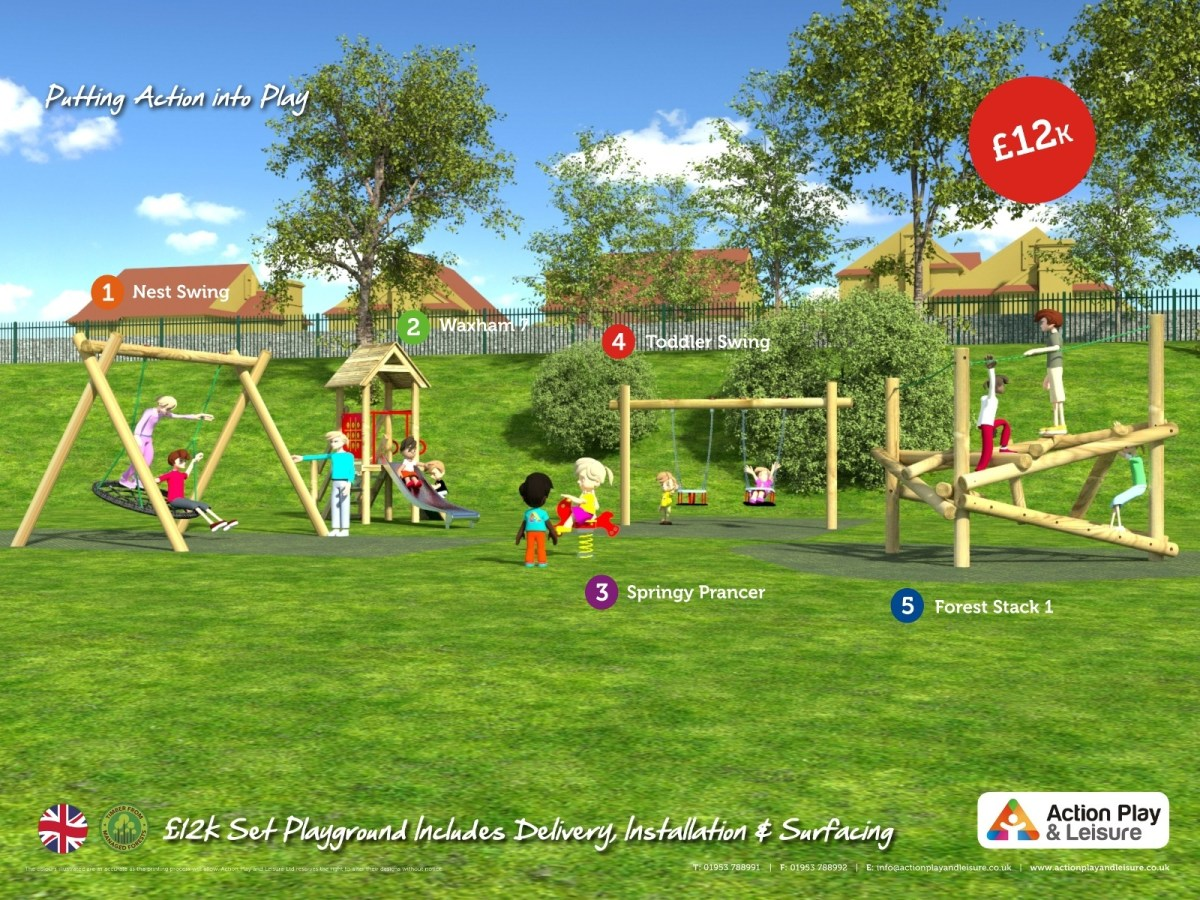 £12,000 Ready Designed Playground side view