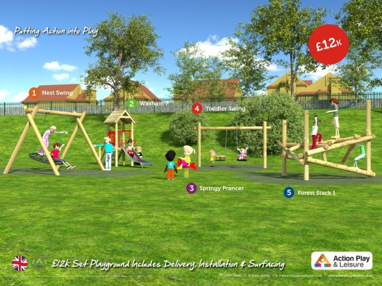£12,000 ready designed playground