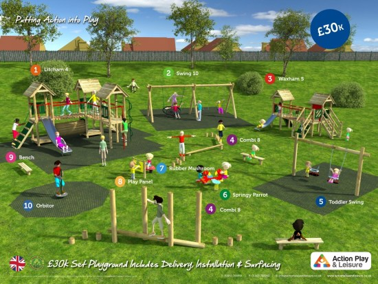 £30,000 ready designed playground