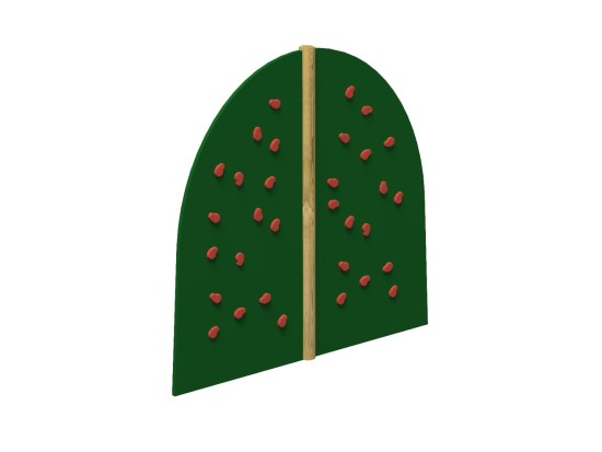 Curve Climbing Wall