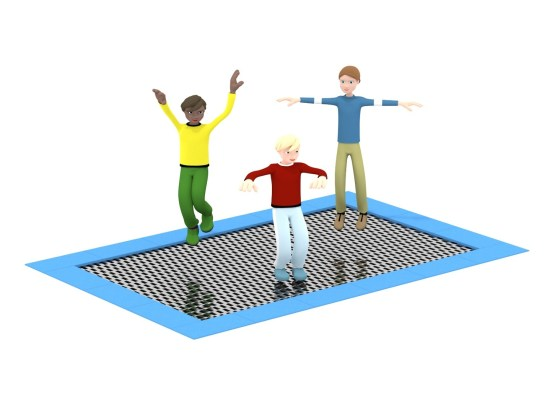 Trampoline Large - recessed to ground level