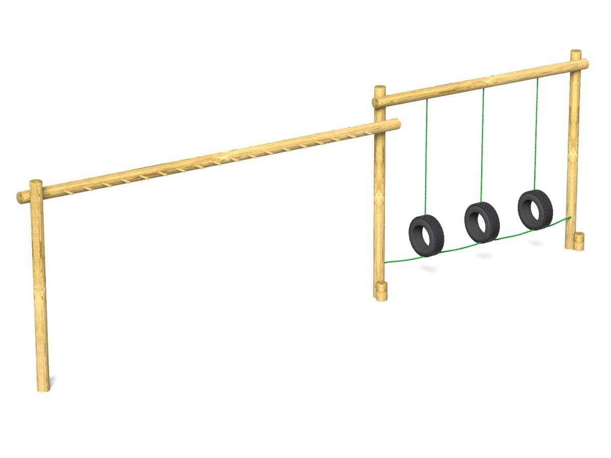 Tyre Traverse Hanging Ladder