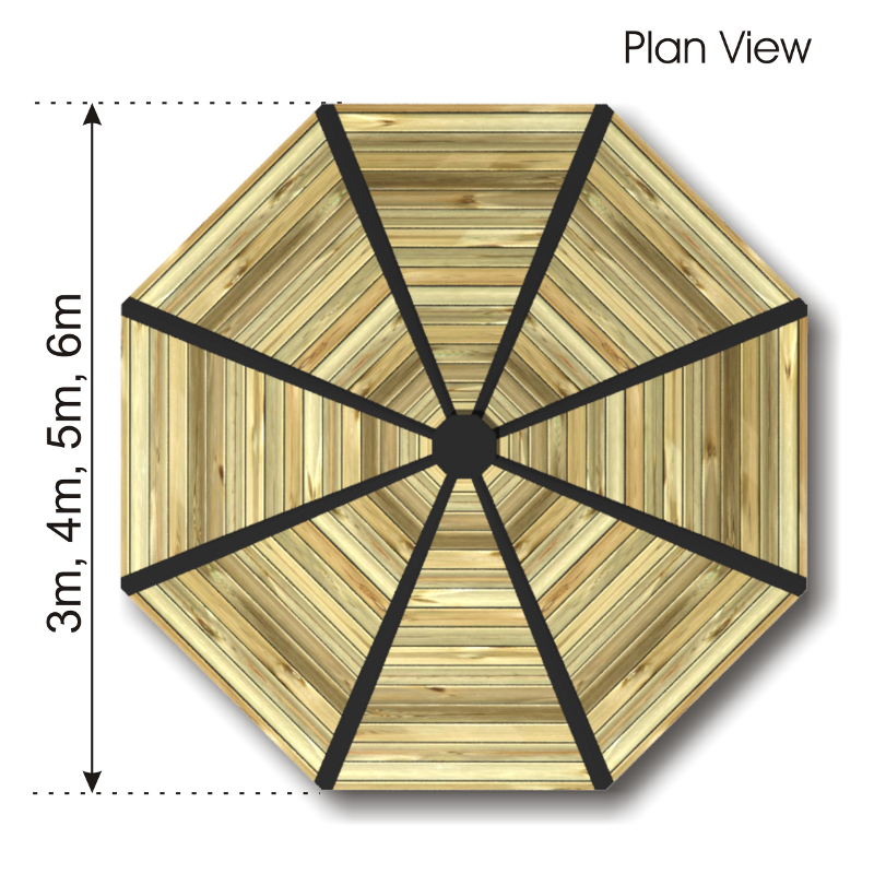 Octagonal Outdoor Classroom with HDPE Panels plan view