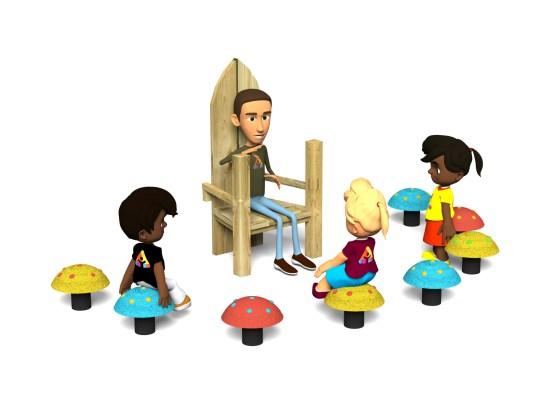 Story Telling Chair Mushrooms Seats