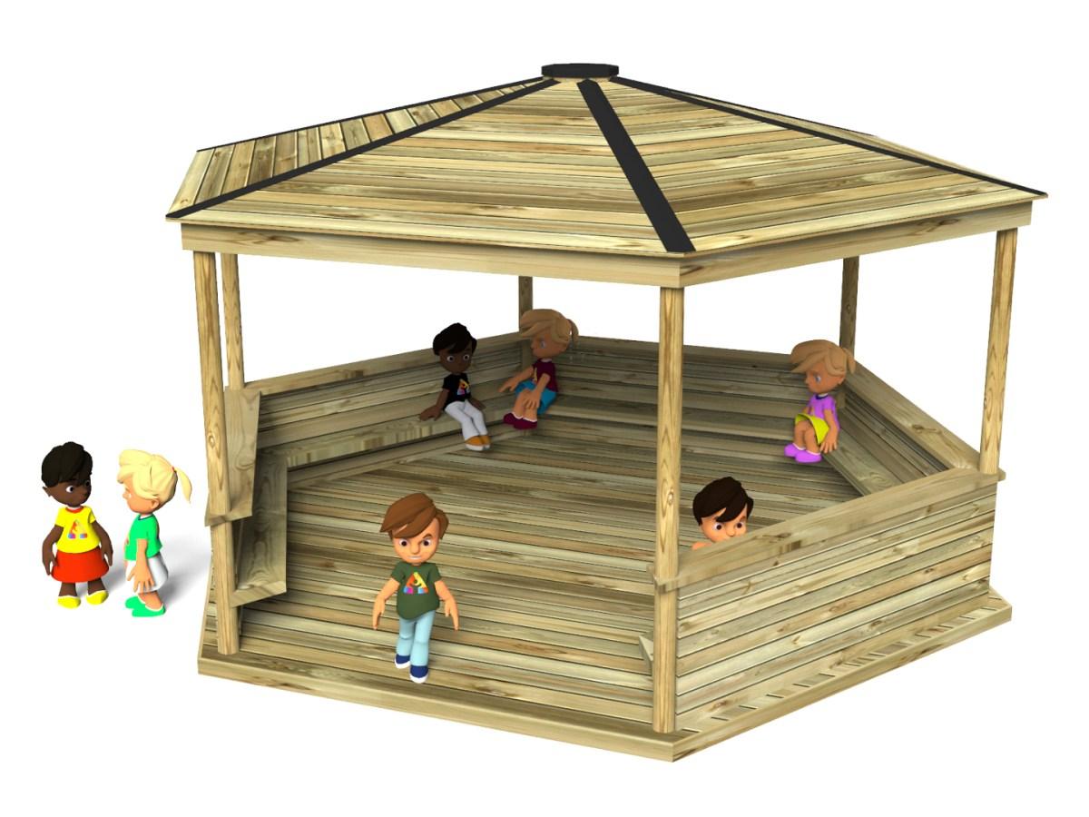 Hexagonal Shelter or outside classroom
