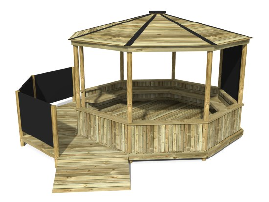 Octagonal Shelter with Platform