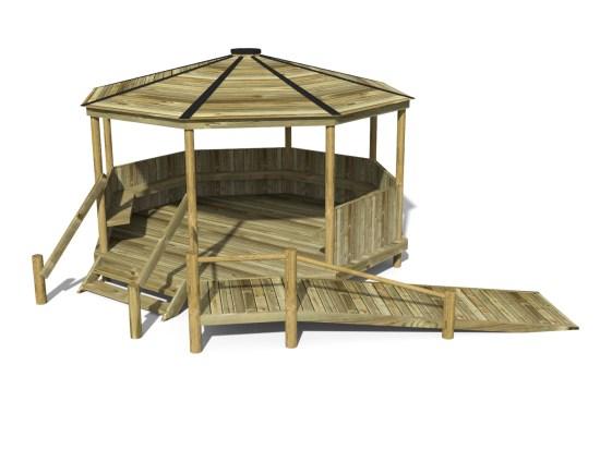 Raised Octagonal Shelter