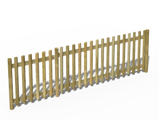 Timber Rounded Fence