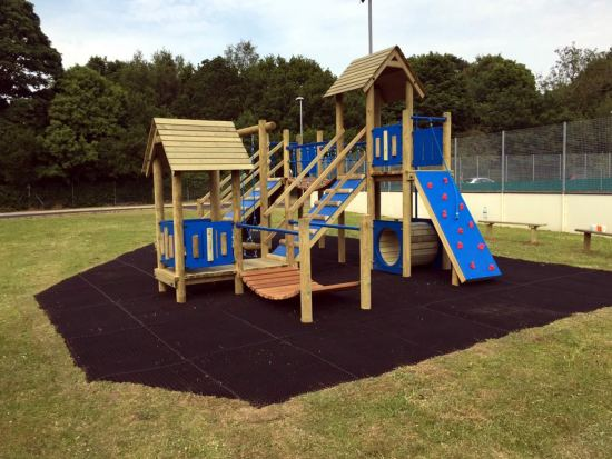 Beauchamp 5 Play Tower on safergrass mat safety surfacing