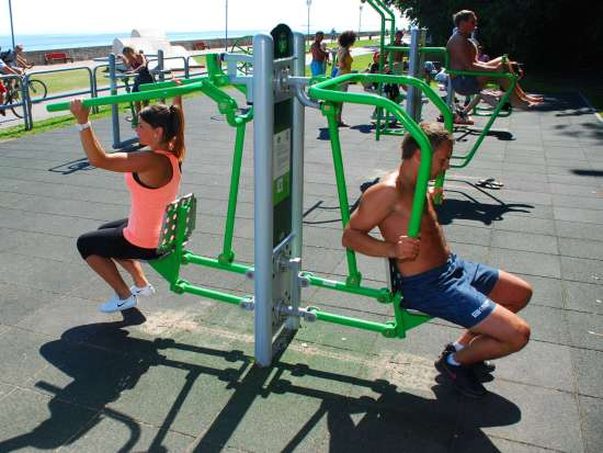 Chest press and Pull down Adult fitness equipment
