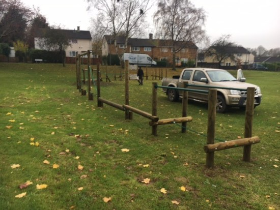 Trim trail installed at Willowbrook school
