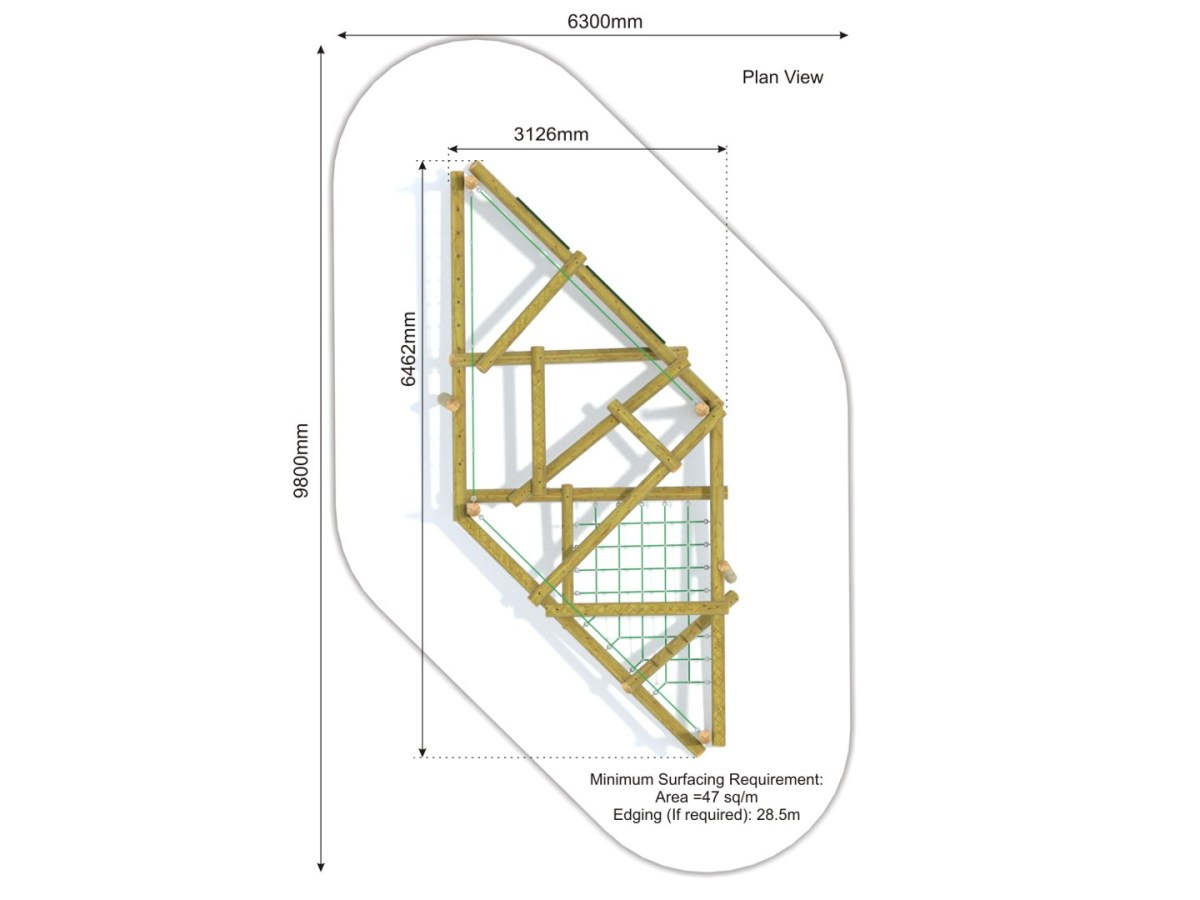 Forest Stack 4 Climbing Frame plan view